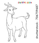 goat to be colored  the...   Shutterstock .eps vector #706759687