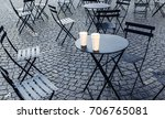 chairs and tables scattered on... | Shutterstock . vector #706765081