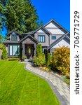 luxury house in vancouver ... | Shutterstock . vector #706771729