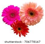bouquet of flowers gerberas... | Shutterstock . vector #706778167