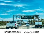 traffic in 101 freeway in los... | Shutterstock . vector #706786585