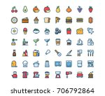 kitchen and food icon set ... | Shutterstock .eps vector #706792864