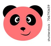 pink and black smiling panda... | Shutterstock .eps vector #706793659