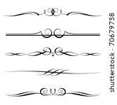 vector set of decorative... | Shutterstock .eps vector #70679758
