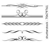 vector set of decorative... | Shutterstock .eps vector #70679761