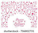 vector happy holidays greeting...   Shutterstock .eps vector #706802731