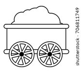 train wagon icon. outline... | Shutterstock .eps vector #706811749