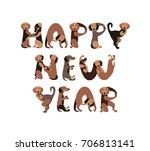 happy new year  vector... | Shutterstock .eps vector #706813141