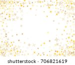 cosmic abstract vector border... | Shutterstock .eps vector #706821619