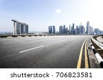 empty asphalt road and... | Shutterstock . vector #706823581
