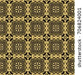 seamless pattern in vintage... | Shutterstock . vector #706824001