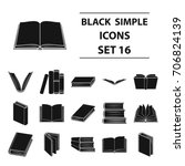 books set icons in black style. ... | Shutterstock .eps vector #706824139