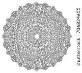 mandala. black and white round...   Shutterstock .eps vector #706824655
