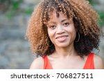 african american woman smiling | Shutterstock . vector #706827511