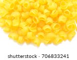 pasta isolated on white... | Shutterstock . vector #706833241