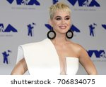 katy perry at the 2017 mtv... | Shutterstock . vector #706834075