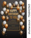 happy birthday vector... | Shutterstock .eps vector #706842565