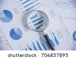 looking at growth chart with... | Shutterstock . vector #706857895
