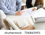 person's engineer hand drawing... | Shutterstock . vector #706865491