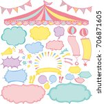 speech bubbles and market place ... | Shutterstock .eps vector #706871605