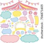 speech bubbles and market place ... | Shutterstock .eps vector #706871605