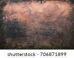 dark aged copper texture ...   Shutterstock . vector #706871899