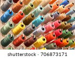 colored thread for the textile... | Shutterstock . vector #706873171