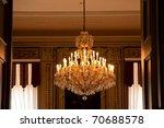 chandelier - stock photo