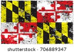 the flag of maryland | Shutterstock . vector #706889347