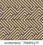 seamless brown and golden... | Shutterstock . vector #706896175