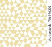geometric pattern with golden... | Shutterstock . vector #706896301