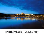 Evening View Of Prague Castle...