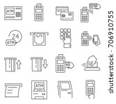 set of terminal related vector... | Shutterstock .eps vector #706910755