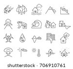 set of disaster related vector... | Shutterstock .eps vector #706910761