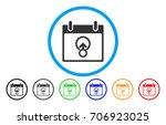 cell penetration calendar day...   Shutterstock .eps vector #706923025