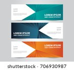 modern colorful business banner ... | Shutterstock .eps vector #706930987