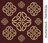 celtic pattern   Shutterstock .eps vector #70695226