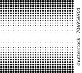 halftone grunge background.... | Shutterstock .eps vector #706956901