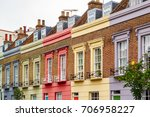 Facade Of Colourful Terrace...