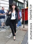 Small photo of LONDON - AUG 05, 2017: Imelda May pop star seen at the BBC radio two studios in London