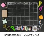grid timetable schedule with... | Shutterstock . vector #706959715