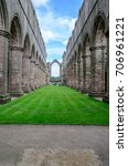 Small photo of Fountains abbey, England.