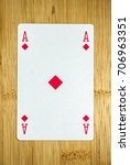 Small photo of Playing cards: Ace of Diamonds