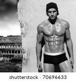 sexy fine art black and white... | Shutterstock . vector #70696633