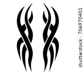 tribal tattoo art designs.... | Shutterstock .eps vector #706970401