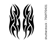 tribal tattoo art designs.... | Shutterstock .eps vector #706970431