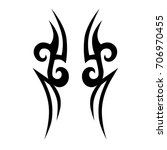tribal tattoo art designs.... | Shutterstock .eps vector #706970455