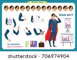 set of super businessman... | Shutterstock .eps vector #706974904