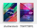 placards with abstract shapes ... | Shutterstock .eps vector #706975891