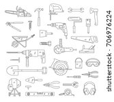 building tools  | Shutterstock .eps vector #706976224